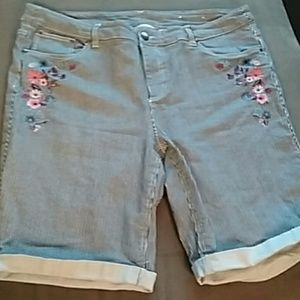 Christopher Banks plus 16 shorts stripe embroidery